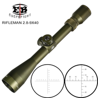 EB RIFLEMAN 2.8 9X40 FFP Hunting Riflescopes First Focal Plane Scope Glass Etched Reticle Turrets Lock Reset Tactical Optical