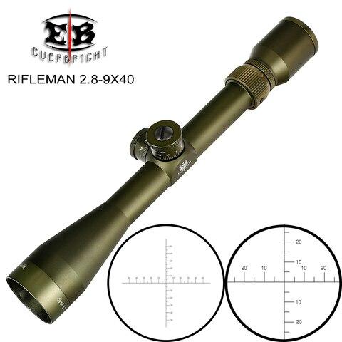 eb rifleman 2 8 9x40 caca riflescopes ffp primeiro plano focal do vidro gravado reticulo