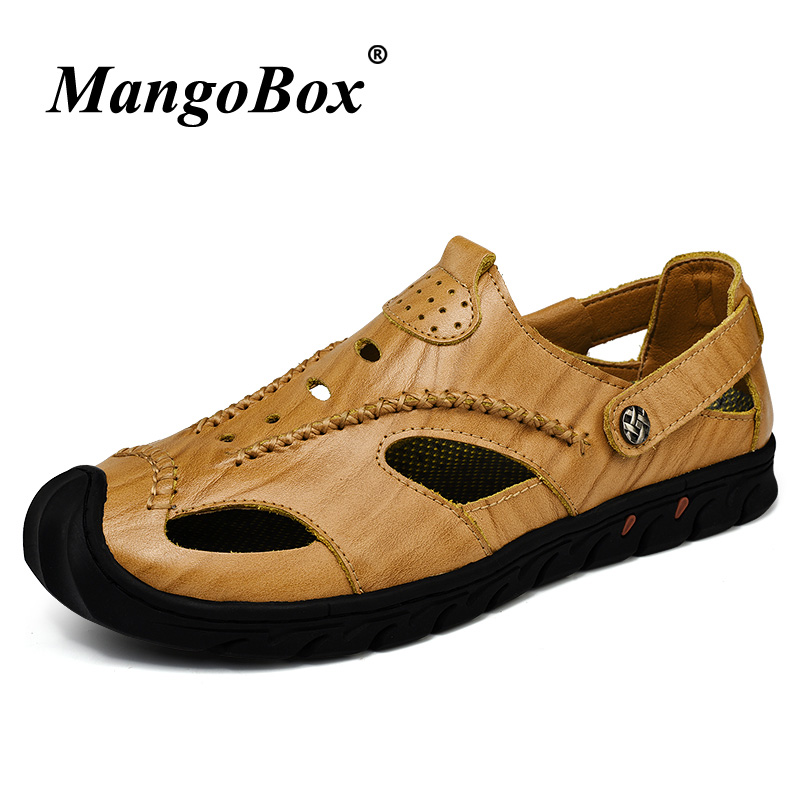 New Sandals Men Summer Shoes Casual Leather Beach Plus Size 45 46 Slip On Sandals For Men Rubber Sandals Designer Mens Footwear