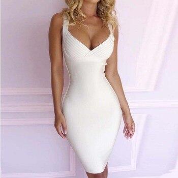 813d159ab15e259 Product Offer. Новое поступление 2019 на бретельках белого цвета,  облегающее Платье ...