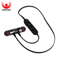 SWZYOR LY-11 Metal Sports Bluetooth Headphone SweatProof Earphone Magnetic Earpiece Stereo Wireless Headset for Mobile Phone