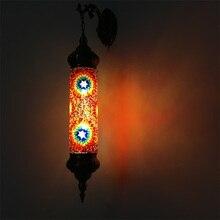 ใหม่เมดิเตอร์เรเนียนสไตล์ Art Deco ตุรกี Mosaic Wall โคมไฟ Handcrafted โมเสคแก้วโรแมนติก Wall LIGHT