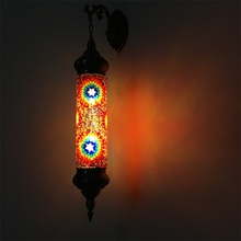 Nieuwe Mediterrane stijl Art Deco Turkse Mozaïek Wandlamp Handgemaakte mozaïek Glas romantische wandlamp