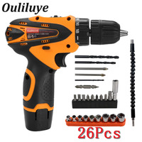 12V Cordless Wireless Electric Drill Screwdriver Impact Driver Lithium Battery Rechargeable Multifunction Power Driver Tool
