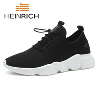 HEINRICH 2018 New Arrivals Breathable Casual Shoes Men Walking Flexible Black Sneakers Surface Matsukichi Men Shoes Sapatos