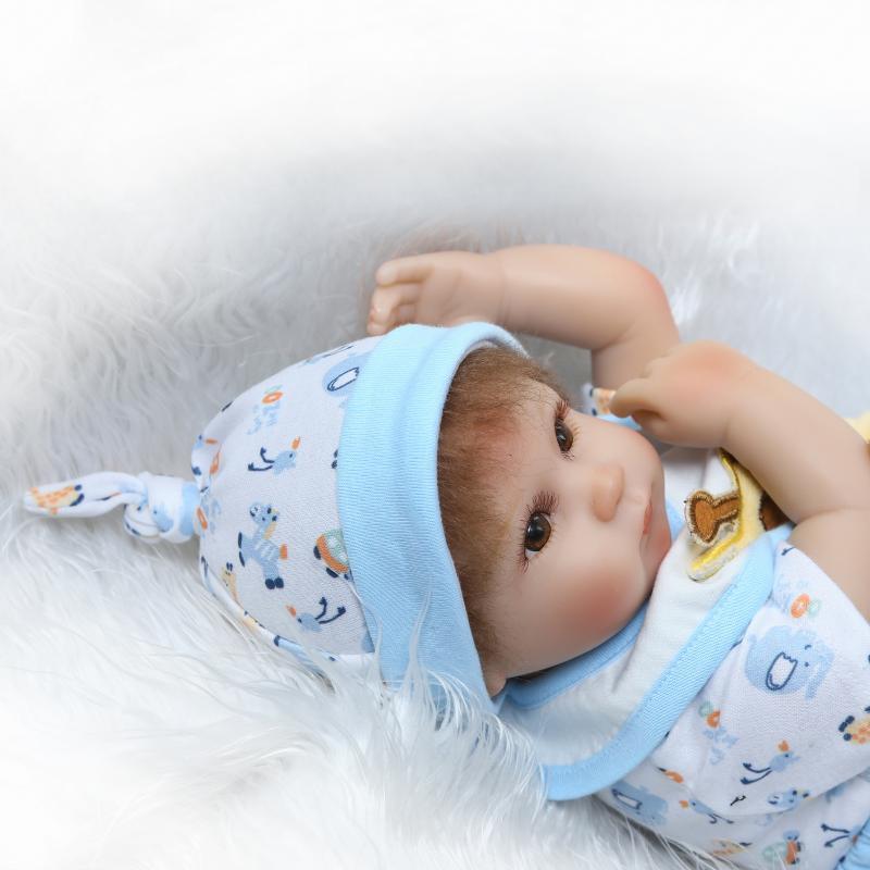 Bebe 16 Silicone Reborn Baby Doll Toys 40cm Handmade Cloth Body Doll Lifelike Baby-Reborn boy doll bonecas Brinquedos