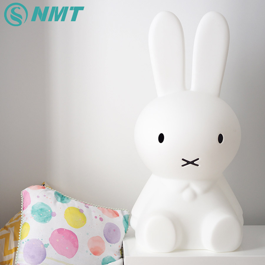 50cm Miffy Rabbit LED Night Light Children Baby Bedroom Night Lamp Bedside Decoration Lovely Lights Kids Christmas Gift yimia creative 4 colors remote control led night lights hourglass night light wall lamp chandelier lights children baby s gifts