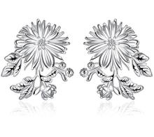 Beautiful Flower Silver-Plated Earrings For Woman High Quality Fashion Classic Jewelry Earings Fashion Jewelry