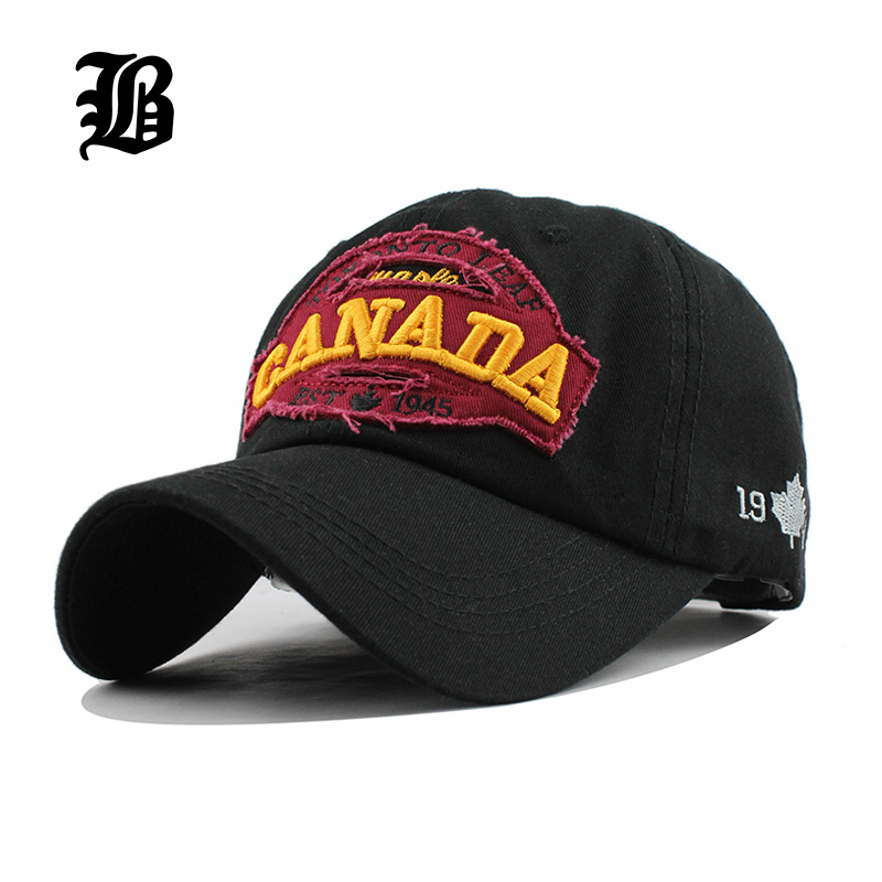 [FLB] brand canada letter Cotton embroidery Baseball Caps Snapback hat for Men women Leisure Hat cap wholesale F228