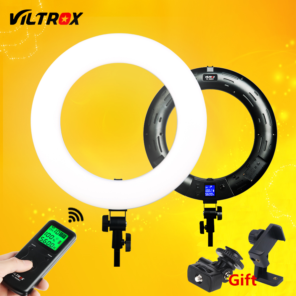 Viltrox VL 600T Wireless remote LED Ring light 3300K~5600K for camera photo shooting Studio YouTube Video photography Live lamp