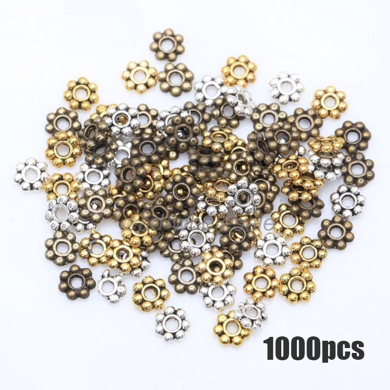 Spacers 15 pcs Charms 6mm Vermeil 18K Gold Plated Wavy Brushed Disc Findings