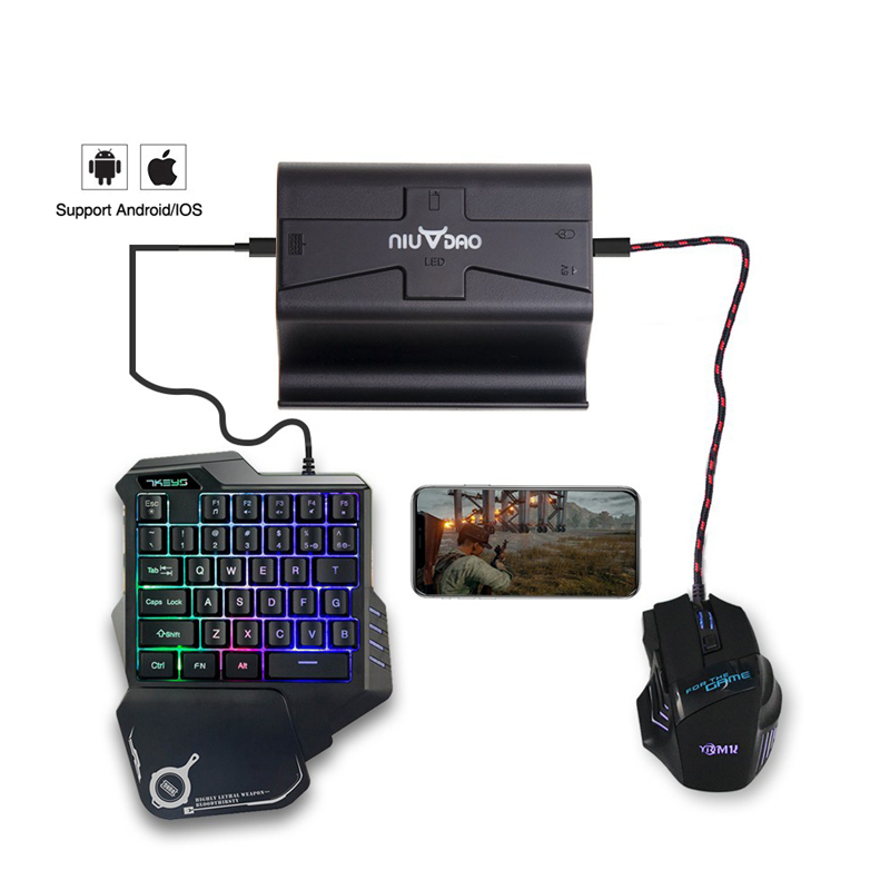 Shirlin G2 Plug And Play PUBG Mobile Gamepad Controller Gaming Keyboard Mouse Bluetooth For IOS For Android Games Accessorie
