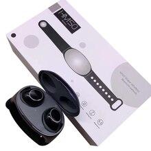 HM50 TWS Wireless Headphones New Style with Wristwatch Band Bluetooth Earphones Sport Earpo