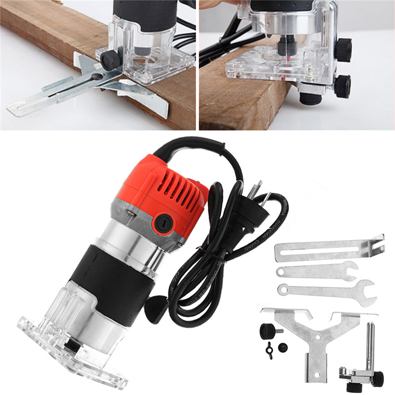 220V 800W 30000RPM Electric Hand Router Trimmer Wood 6 35mm 0 25 Inch Electric Trimmer Router