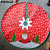 1PCS 100cm New Santa Claus Christmas Tree Snowflake Skirt Red Christmas Felt Snowman Tree Home Decoracion