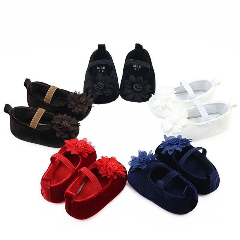 Newborn Baby shoes Prewalker Soft Bottom Anti Slip Shoes Footwear Classic Princess Girl Shoes