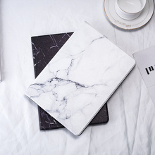 For iPad 9.7 2018 2017 Case Hard Marble Pattern PU Tablet Protective Cover for iPad Air 1 2 Mini 1 2 3 4 iPad 2/3/4 Funda Coque protective marble pattern hard plastic back case for ipad brown