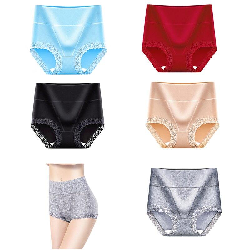 Soft Comfort Women Briefs Seamless Slimming Lady Lingerie Hot Cotton Panties High Waist Women Sexy Lace Body Shaper Underwear