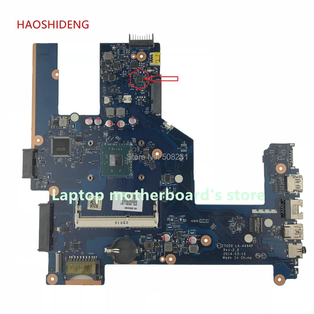 все цены на HAOSHIDENG 788289-501 788289-001 ZSO50 LA-A994P Laptop Motherboard For HP 250 G3 15-R 15T-R NOTEBOOK PC fully Tested онлайн
