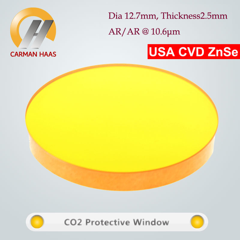 CVD ZnSe Laser Protective Window Lens CO2 Protect Glass For Laser Cutting Dia 12.7mm THK 2.5mm low price quartz dia 48mm thick 3mm 1064nm protective window for engraved christmas ornamemts rubber stamp machine