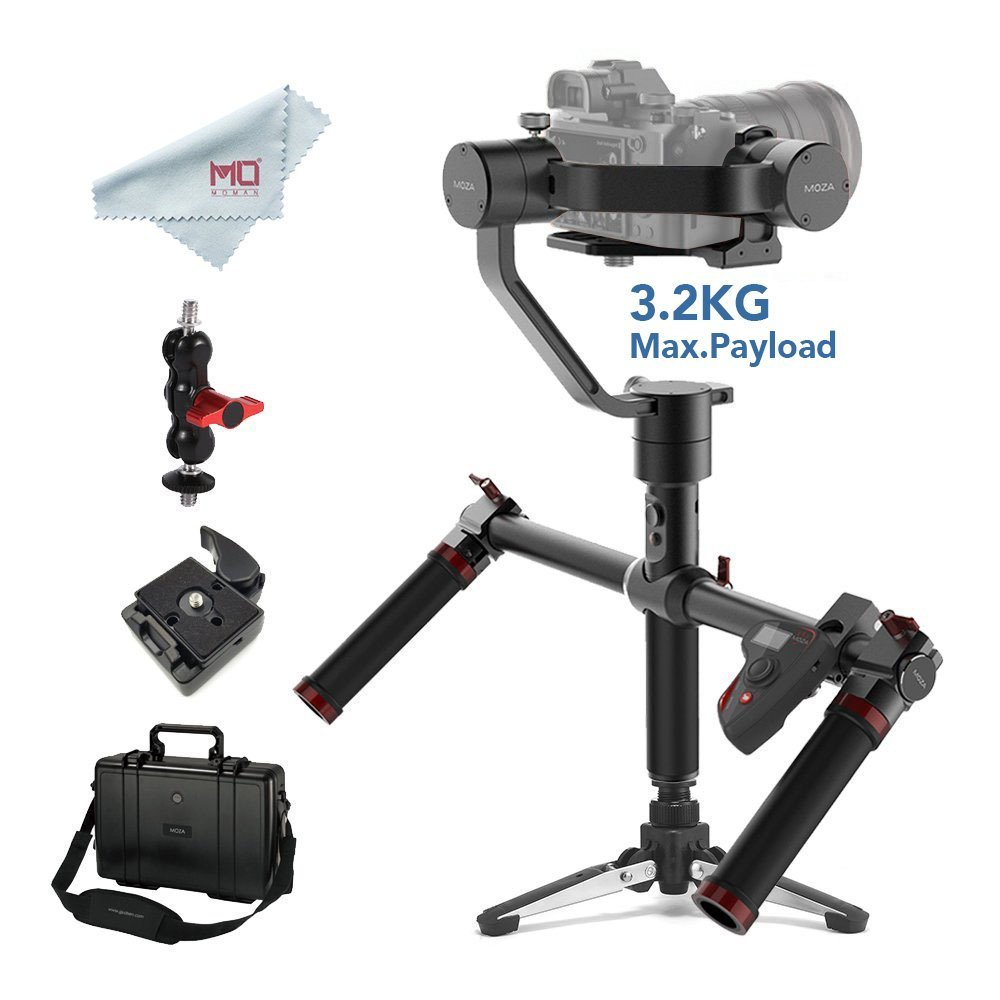 MOZA Air 3-Axis Handheld Gimbal Stabilizer for DSLR and Mirrorless Cameras Max Load 3.2 kg Sony Canon with Dual Handle & Remote цена