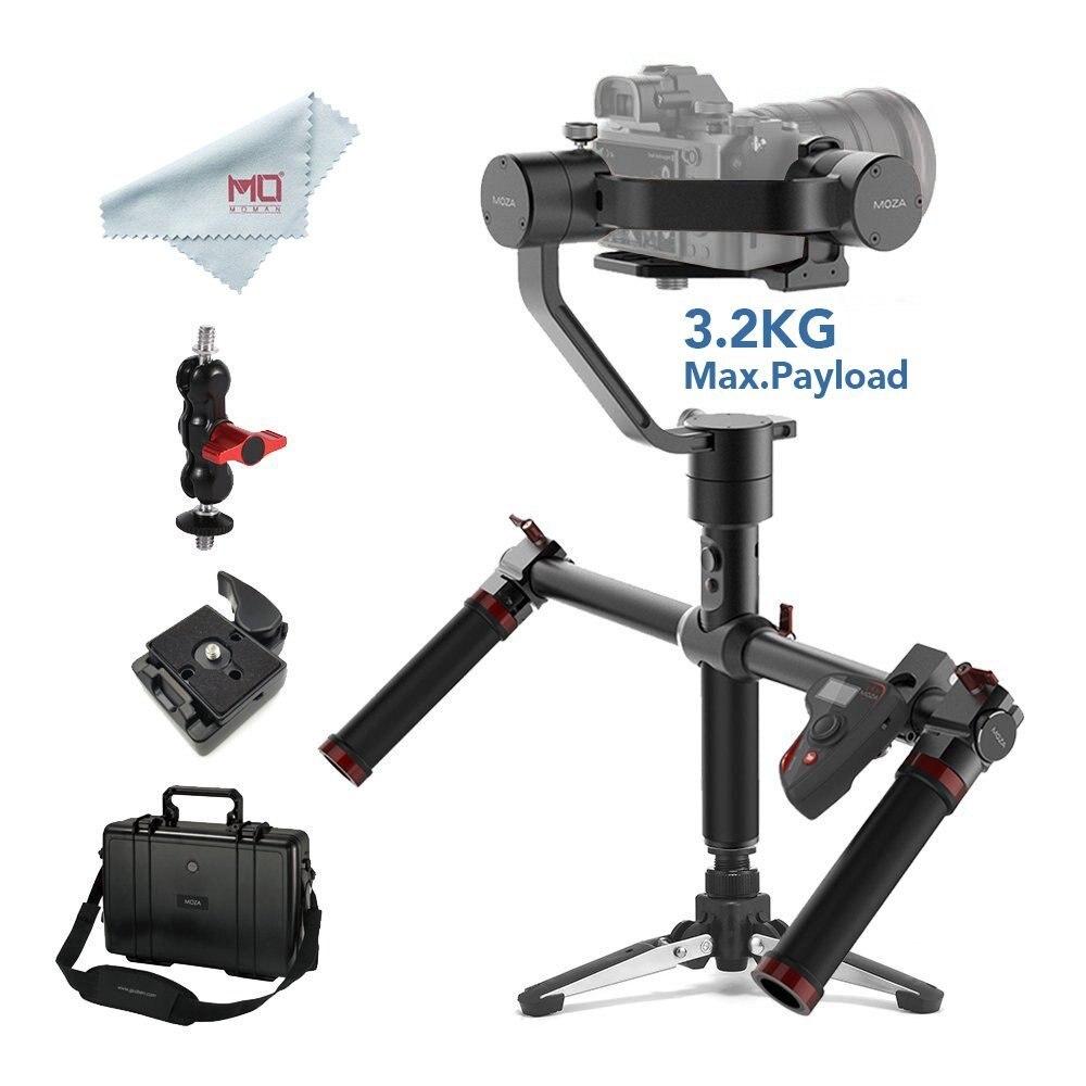 MOZA aire 3 eje estabilizador para cámaras DSLR y sin espejo carga máxima 3,2 kg Sony Canon con manija doble y remoto