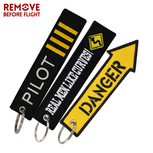 REMOVE BEFORE FLIGHT Novelty Keychain Launch Key Chain Bijoux Keychains for Motorcycles and Cars Key Tag New Embroidery Key Fobs 4