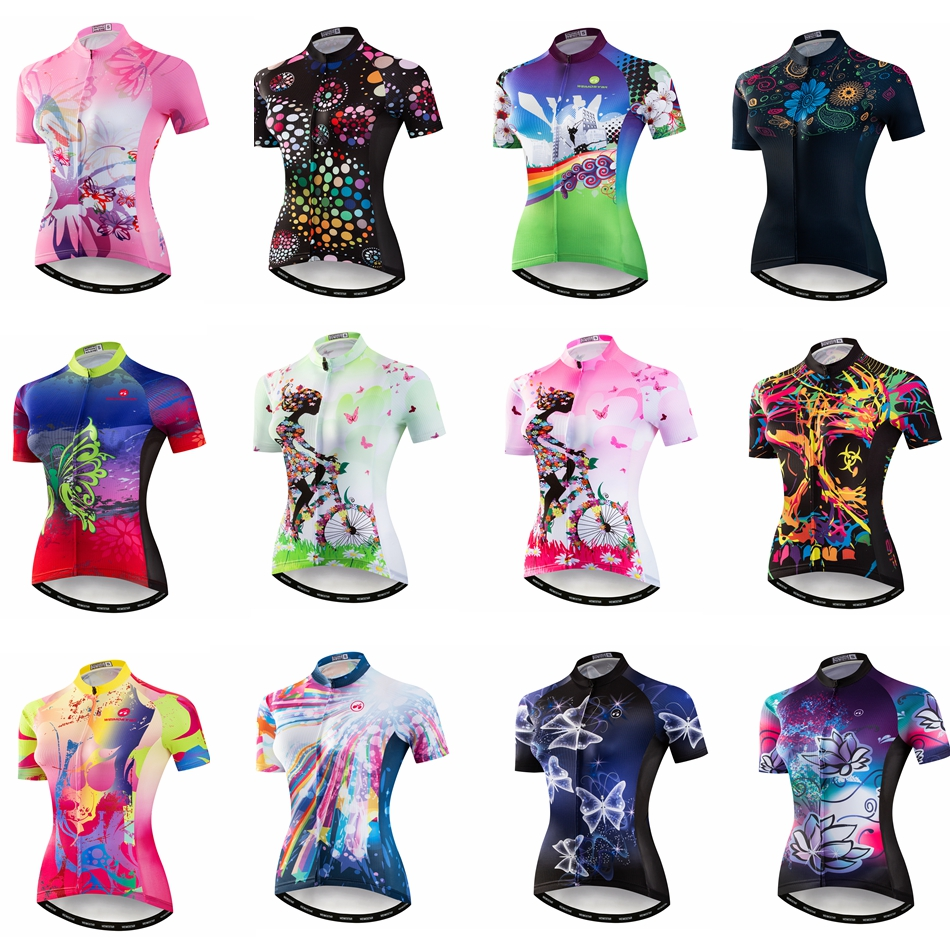 Women s Short Sleeve Cycling Jersey 2018 Quick Dry Breathable MTB Bike  Clothing Shirt Maillot Ropa Ciclismo Summer Pink Green - savestore Review 8ad261509