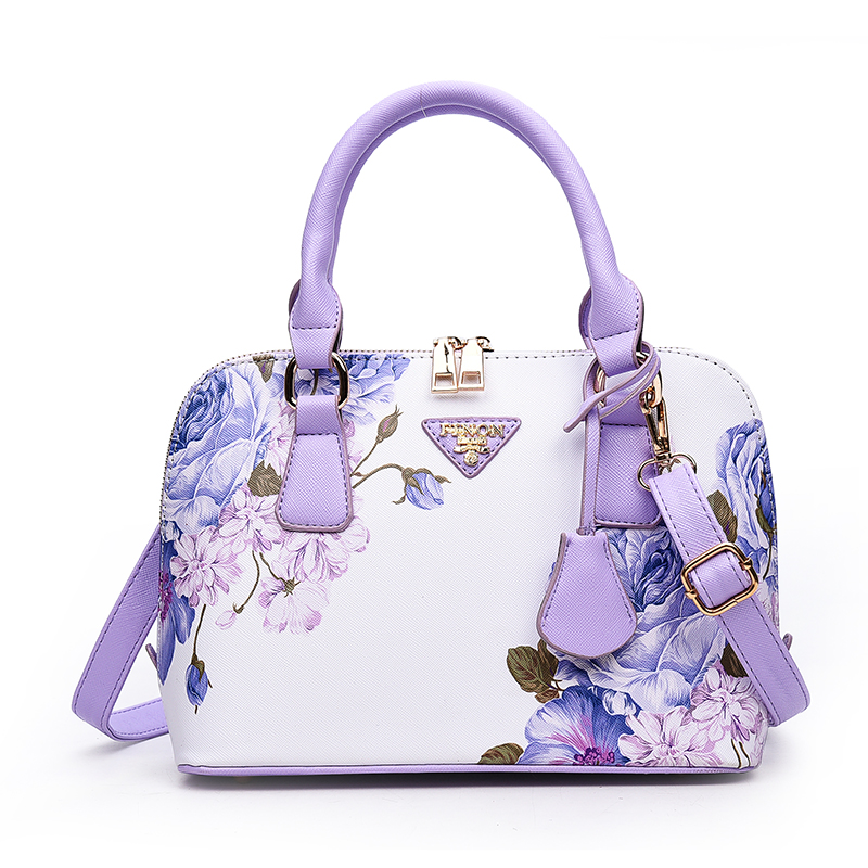 Women Leather Handbags Floral Designer Famous Brand Shell Bags Ladies Bag Sac a Main Femme de