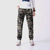 New Casual Cargo Pants Men Slim Overalls Camouflage Trousers Plus Size 36 Male Pants High Quality