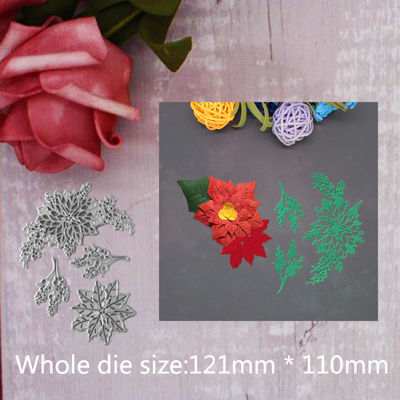 121 110mm Flower Leaves Branches Metal Cutting Dies Stencils for DIY Scrapbooking Paper Cards Craft Making Craft Decoration 2019 in Cutting Dies from Home Garden