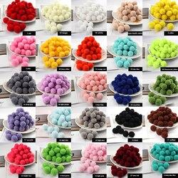 Pompom 8/10/15/20/25/30mm mini macio fofo pompons pompons bola furball feito à mão para diy artesanato casa decoração costura suprimentos
