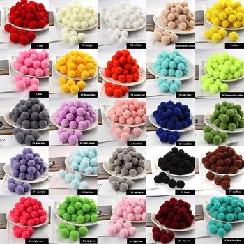 Pompom 8/10/15/20/25/30mm Mini Fluffy Soft Pom Poms Pompoms Ball Furball Handmade for DIY Crafts Home Decor Sewing Supplies - discount item  18% OFF Arts,Crafts & Sewing