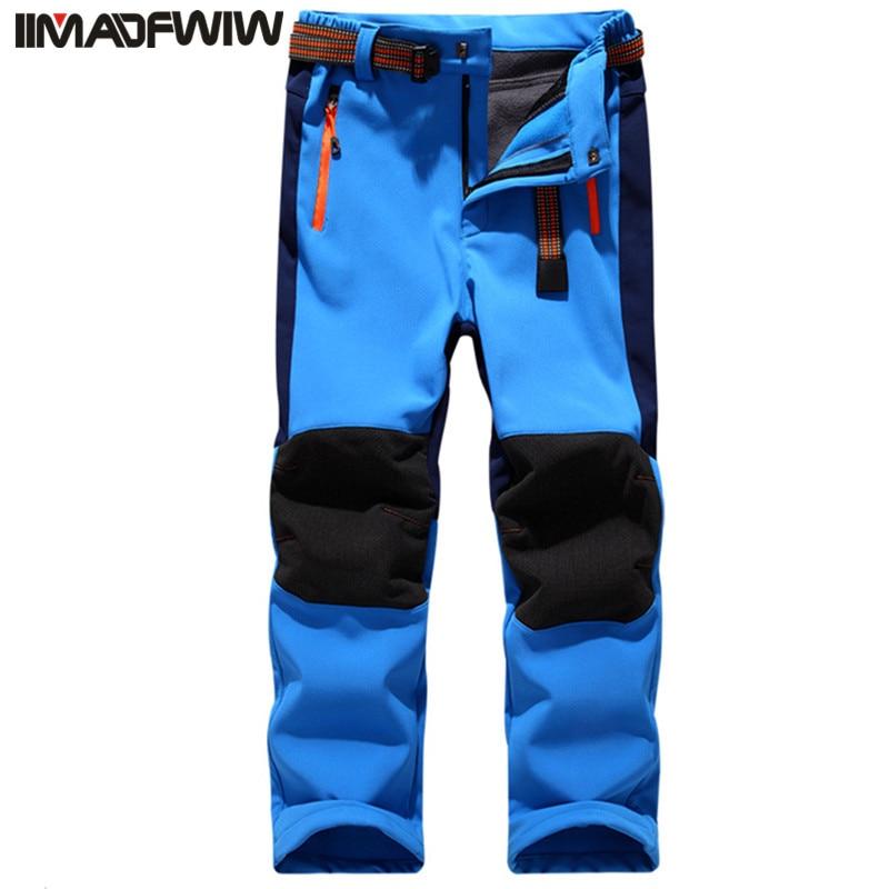 Otoño Invierno Niños Patchwork Casual Pantalones con cremallera Vellón Mantener abrigados Pantalones Niños Niños Chicas Pantalones deportivos