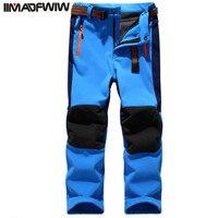 Autumn Winter Children Patchwork Casual Zipper Pants Fleece Keep Warm Trousers Kids Boys Girls Sport Pants