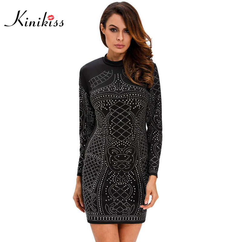 Long sleeve short black mini dress