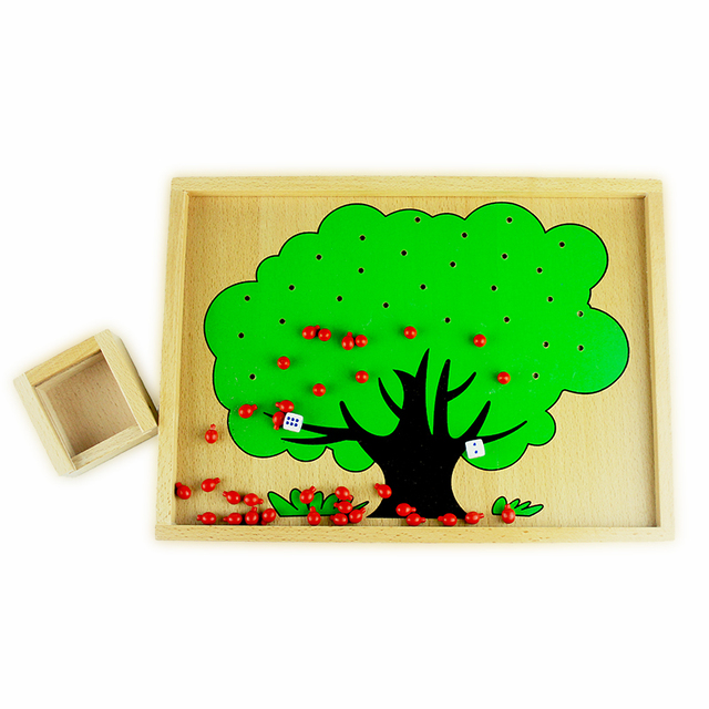 Colorful Wooden Apple Tree Box
