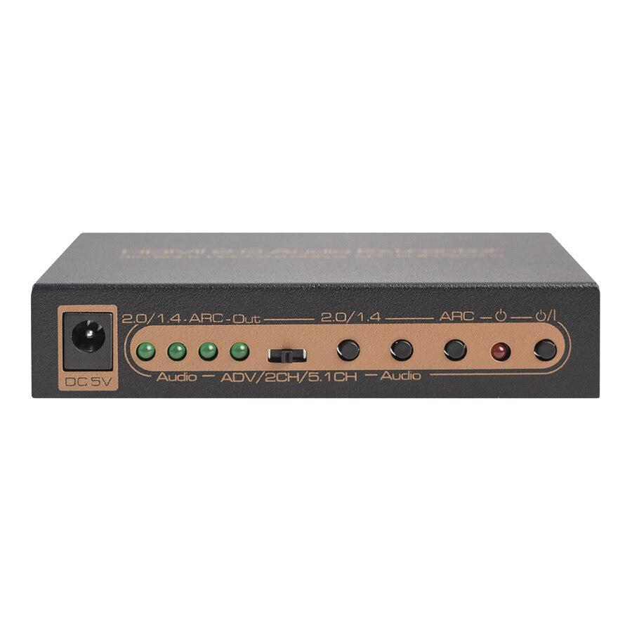 HDR HDMI A HDMI SPDIF Coassiale Ottico Stereo R/L Convertitore di HDMI HDCP2.2 Full HD 1080 P 4K @ 60Hz ARC 3D Audio Extractor su AliExpress - 11.11_Doppio 11Giorno dei single 1