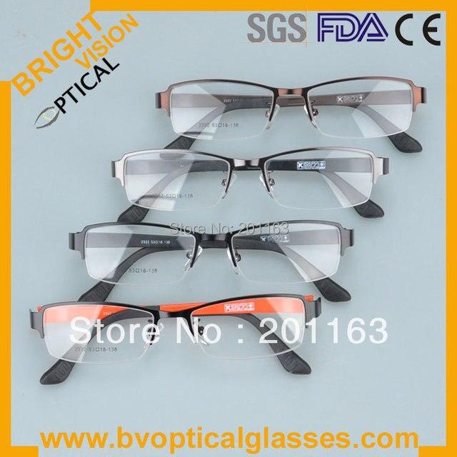 2332 бесплатная доставка красочные человека очками металла RX оправы близорукость очки очки