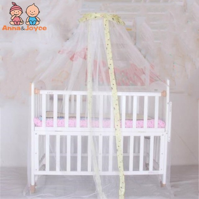 3 Colors New baby bed Home mosquito net Cute Baby Princess Canopy Crib Netting Dome Bed Mosquito Net for Home Nursery
