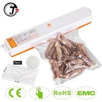 Selador elétrico automático para alimentos  frete rápido 220v/110v  máquina de embalagem a vácuo portátil  para uso doméstico  com presente gratuito 15 sacos