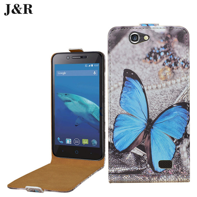 Luxury leather case for ZTE Blade A465 flip cover case housing for ZTE Blade A 465 phone cases covers up and dowm phone bags