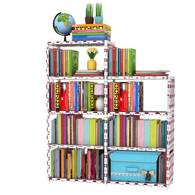 Storage Rack DIY Home Books Storage Rack Kids Wardrobe Students Standing  Bookshelf Space Saving Closet Storage