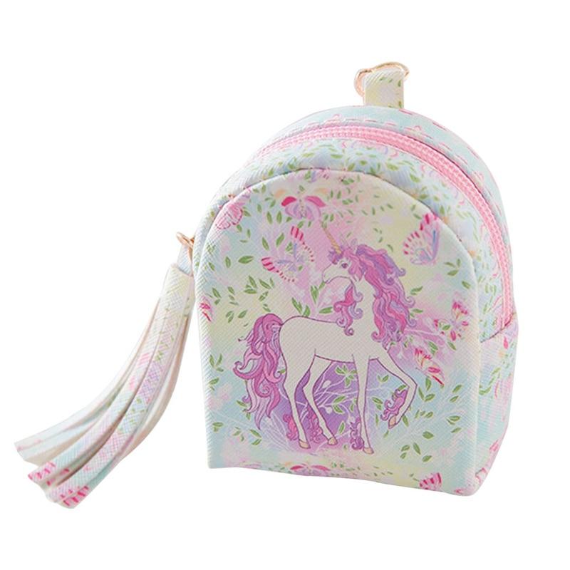 Small Wallet PU Leather Handbag Pendant Fashion Tassel Coin Purse Bag Shaped Coin Purse Mini Zipper