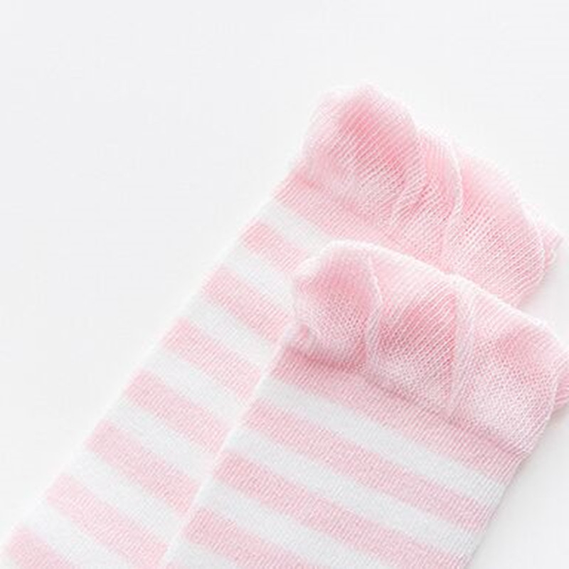 Lawadka 3Pairs/Lot Striped Thin Girls Boys Socks Newborn Soft Cotton Baby Socks Summer Style