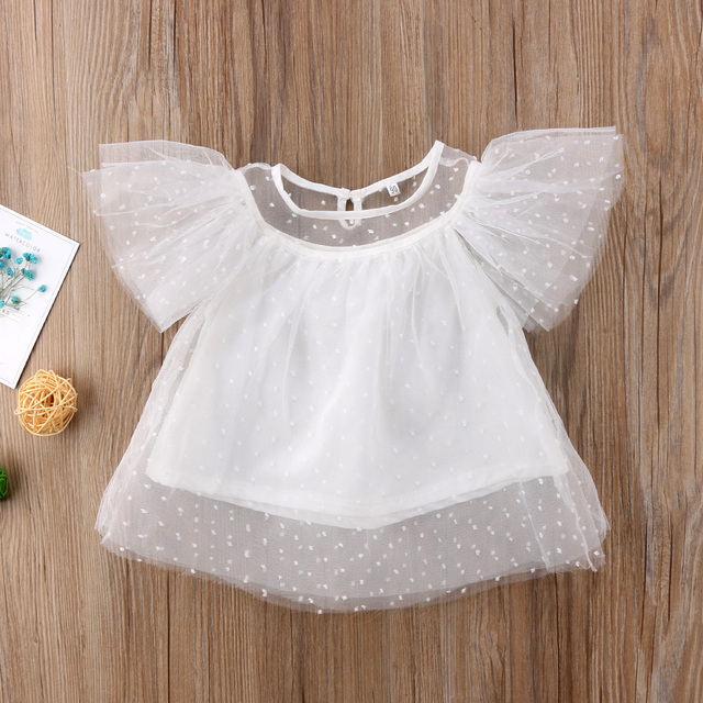 c2ac25b2eec0 Girls White Lace Big Bow Blouses Tops Baby Girl Kids White Shirts ...