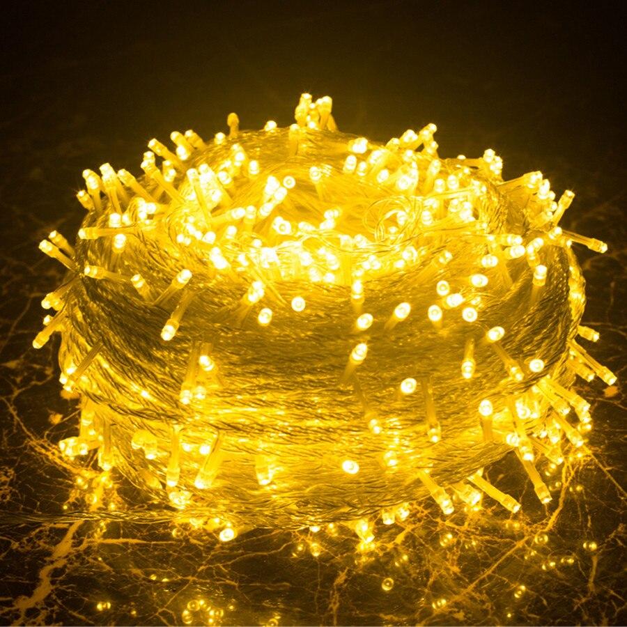 Thrisdar 100 м 1000 светодио дный Рождество Фея свет шнура гирлянда 8 режимов Открытый Патио Свадебная вечеринка праздник света AC220V