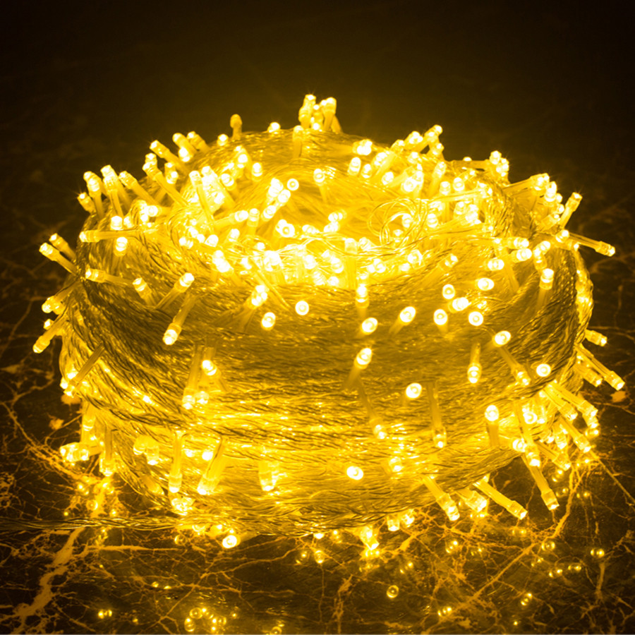 Thrisdar 100M 1000 LED Christmas Fairy String Light Garland 8 Modes Outdoor Garden Patio Wedding Party Holiday Light AC220V ac220v 50m 400leds eu plug fairy string light 8 modes outdoor chirstmas string garland for xmas wedding christmas party holiday