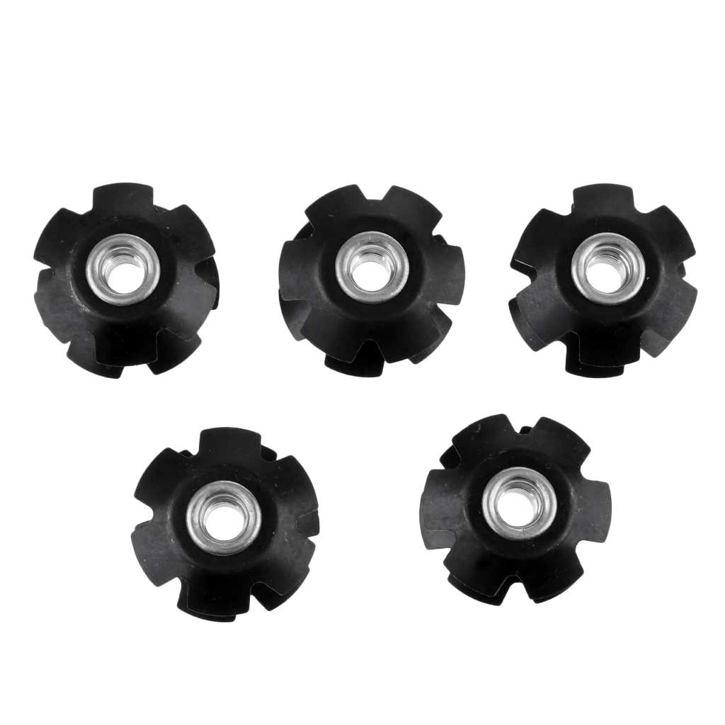 5Pcs <font><b>Bike</b></font> Fork <font><b>Stem</b></font> Headset Top Cap Bicycle Headset Star <font><b>Nut</b></font> for MTB <font><b>Bikes</b></font> Aluminium Alloy Fangled <font><b>Nut</b></font> image