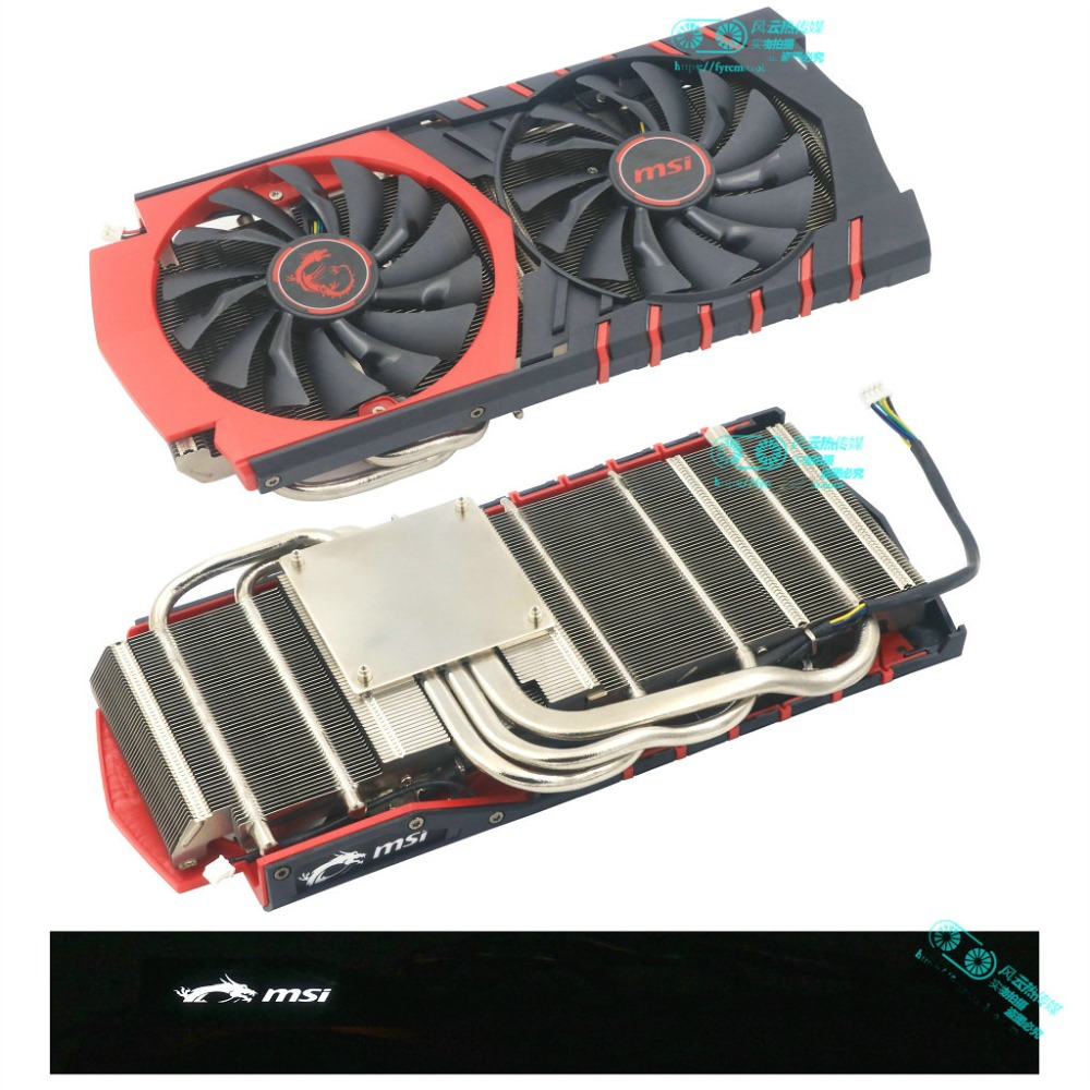 New Original for MSI R9 380 GAMING Graphics card cooler fan pitch 53x53MM-in Fans & Cooling from Computer & Office    1
